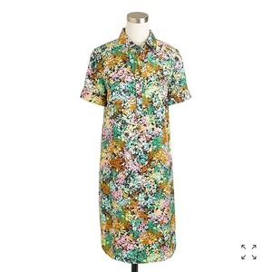 Silk Shirtdress in technicolor floral